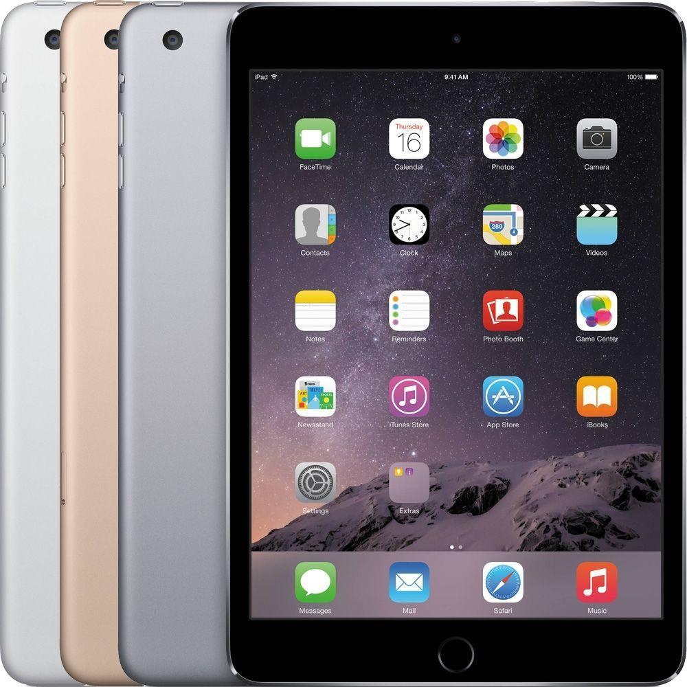 "Tablette 7.9"" Apple iPad Mini 3 Gris - WiFi + 4G LTE, Retina, Touch ID, 16Go"