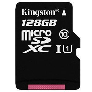 Carte microSDXC Kingston Classe 10 - 128 Go avec adaptateur