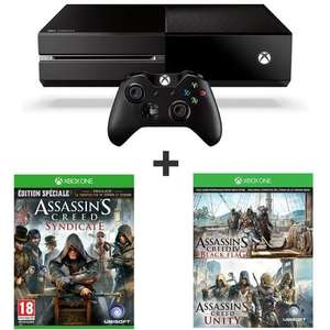 Console Microsoft Xbox One 500Go + Assassin's Creed Syndicate - Edition Spéciale + Assassin's Creed Unity + AC Black Flag