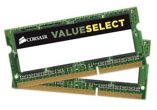 Mémoire RAM Corsair Value Select - 16 Go (2 x 8 Go) (DDR3, SODIMM, 1600 Mhz, CL11)