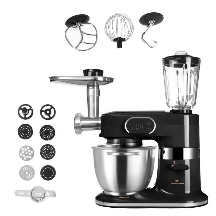 Robot de cuisine Continental Edison CERB100WB (1000 W) + accessoires