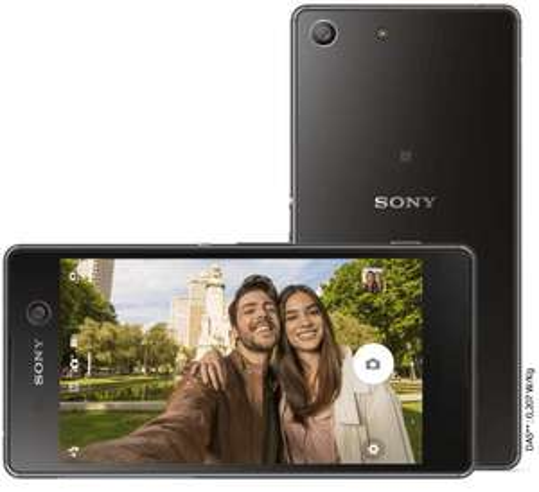 "Smartphone 5"" Sony Xperia M5 - Noir, 4G (via ODR 100€)"