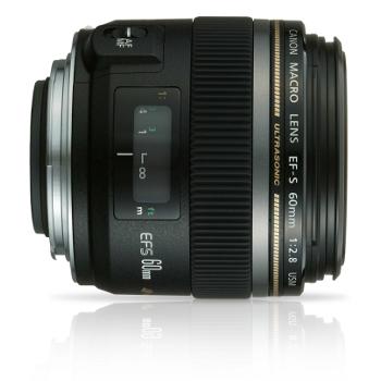 Objectif fixe pour reflex numérique Canon EF-S 60mm f/2.8 Macro USM (ODR de 70€)