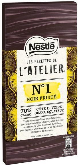 Une tablette de chocolat noir Les recettes de l'atelier Nestlé gratuite - Différentes variétés (Via Prixing + Quoty)