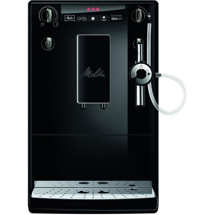 Machine à café Melitta Caffeo Solo&Perfect Milk E 957- 204 Noir + 180€ en bon d'achat