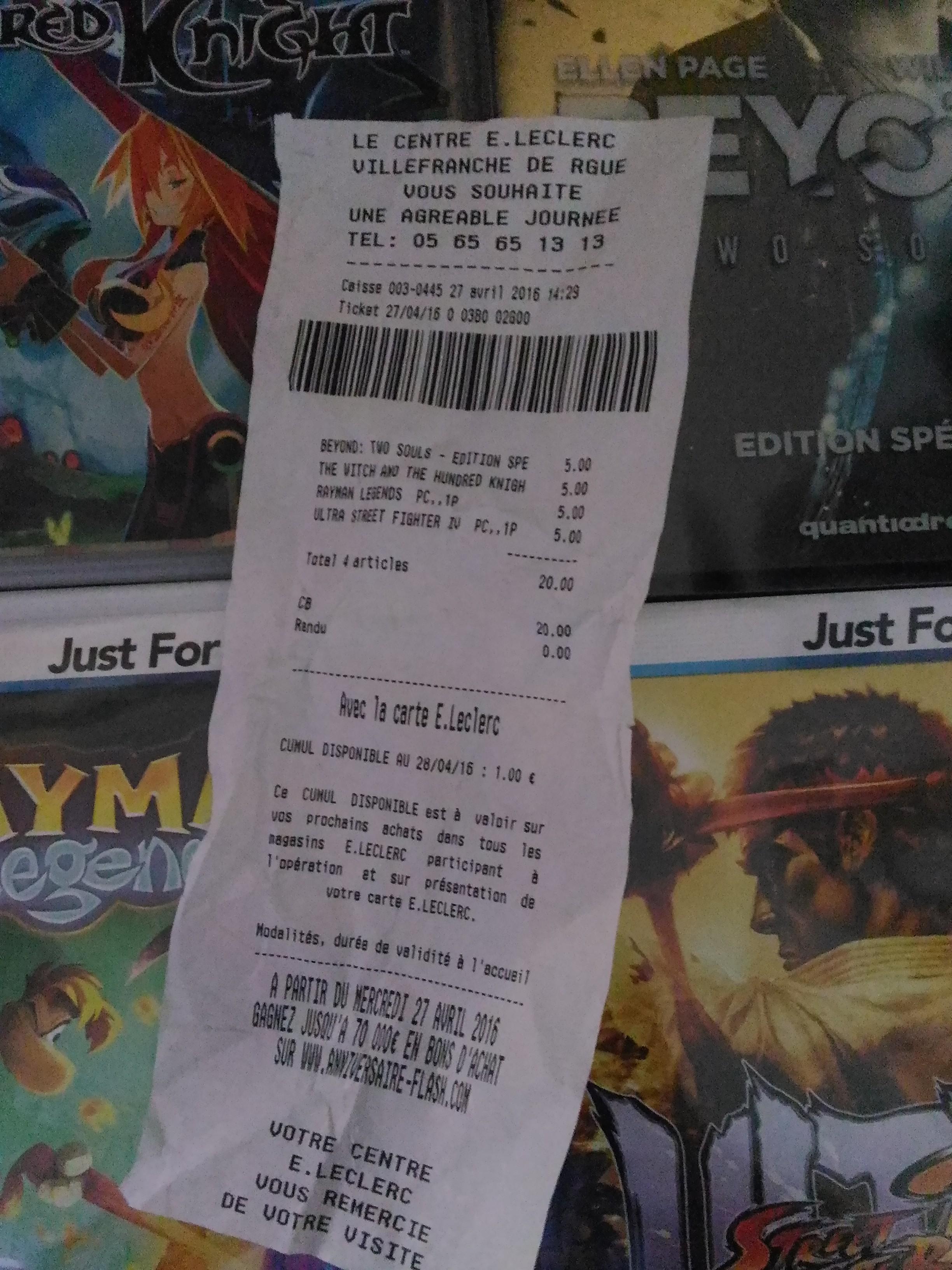 Sélection de jeux vidéo en promotion - Ex : Beyond: Two Souls (édition Spéciale) sur PS3