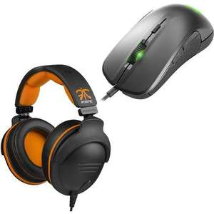 Pack Gaming SteelSeries : Micro Casque 9H USB Fnatic Team Edition + Souris Rival 300 Argent