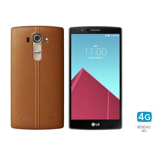 "Smartphone 5.5"" LG G4 32 Go Cuir - Marron"