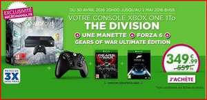 Pack Console Xbox One 1 To The Division + 2ème manette + Forza Motorsport 6 et Gears of War Ultimate Edition en dématérialisé