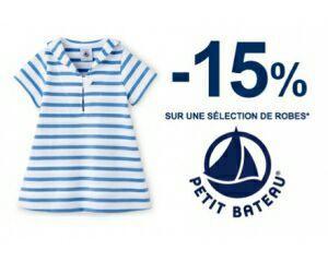 15% de réduction sur une sélection de robes
