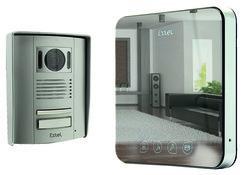 portier vid o 2 fils effet miroir extel quattro 0. Black Bedroom Furniture Sets. Home Design Ideas