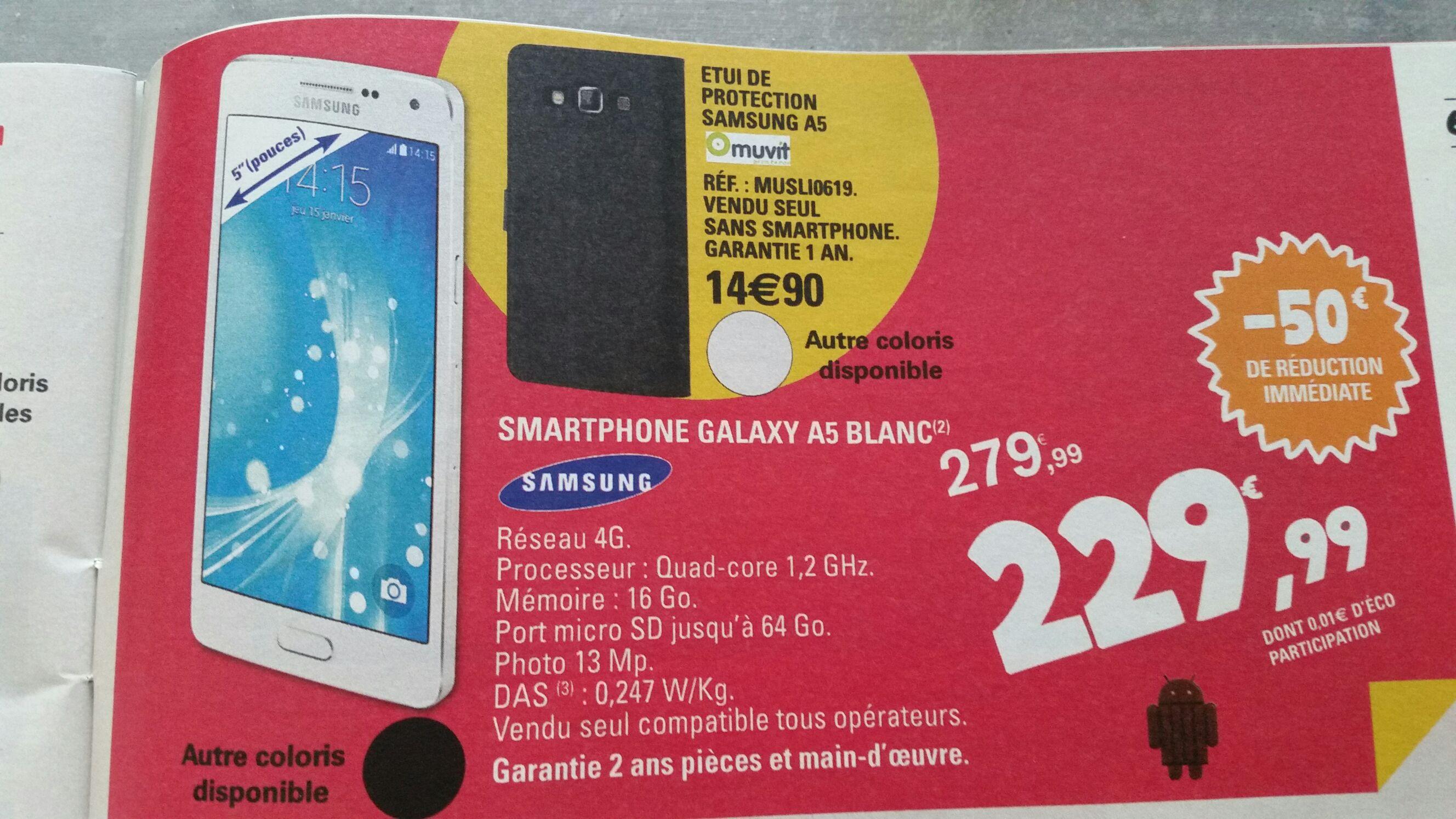 "Smartphone 5"" Samsung Galaxy A5 - 16 Go (2015)"