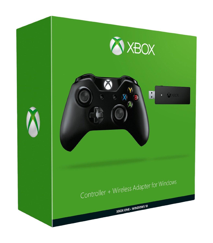 Manette Xbox One (prise jack) + adaptateur PC sans fil