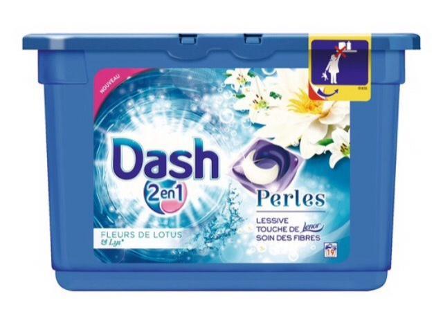 Lessive Dash 2en1 - 19 Perles (via 2.80€ carte Waooh + 3€ BDR)