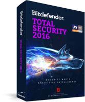 Licence d'1 an pour 3 PC à l'Antivirus  Bitdefender Total Security 2016