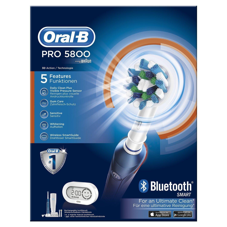 Brosse à Dents Electrique Rechargeable Oral-B Pro 5800 Crossaction
