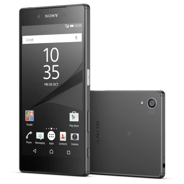 """Smartphone 5.2"""" Sony Xperia Z5 Double Sim Noir (via ODR de 100€)"""