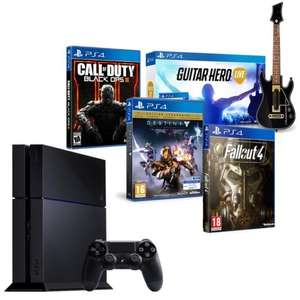 Pack Console Sony PS4 500 Go (CUH-1216A) + Call of Duty Black Ops III + Destiny : Le Roi des Corrompus + Guitar Hero Live + Fallout 4
