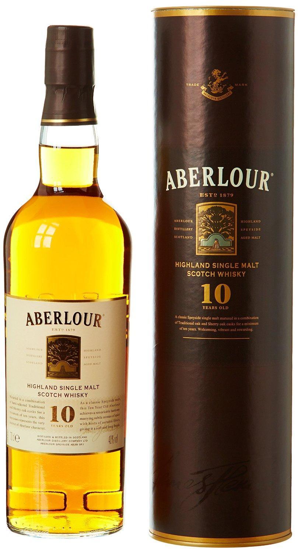 Bouteille de whisky Aberlour - single malt, 10 ans d'âge (70 cl)