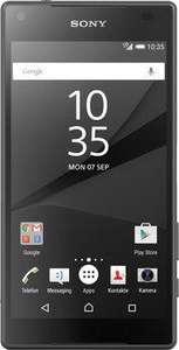"[Clients mobile] Smartphone 4.6"" Sony Xperia Z5 Compact - blanc ou noir (via ODR de 100€)"