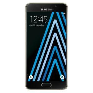 """Smartphone 4.7"""" Samsung Galaxy A3 2016 Or (via ODR de 30€ + 74,5€ en deux bons d'achat)"""