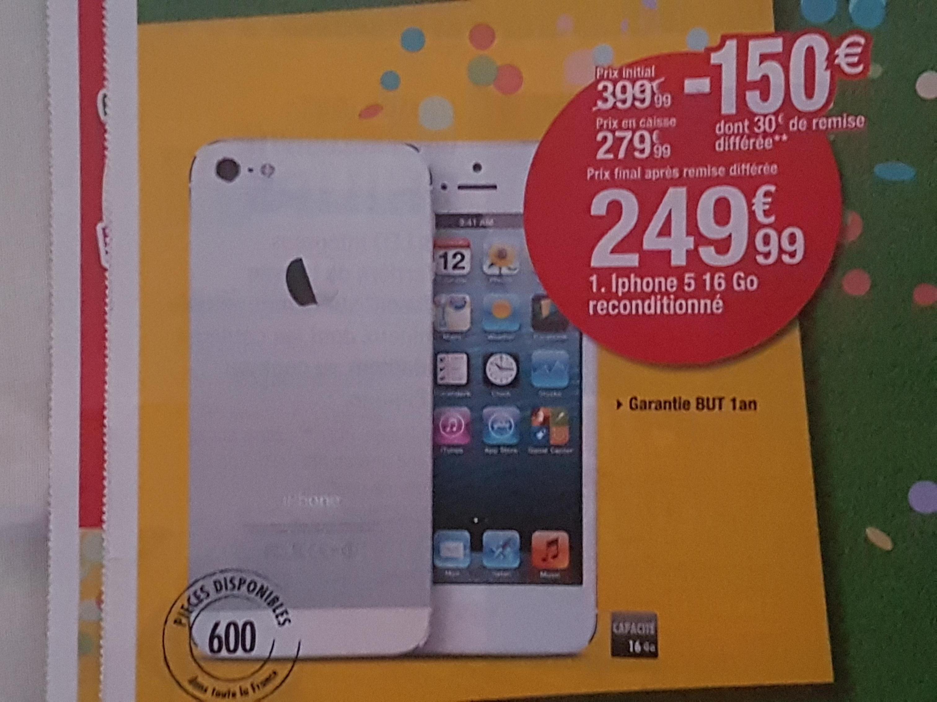 "Smartphone 4"" Apple iPhone 5 16Go Reconditionné"