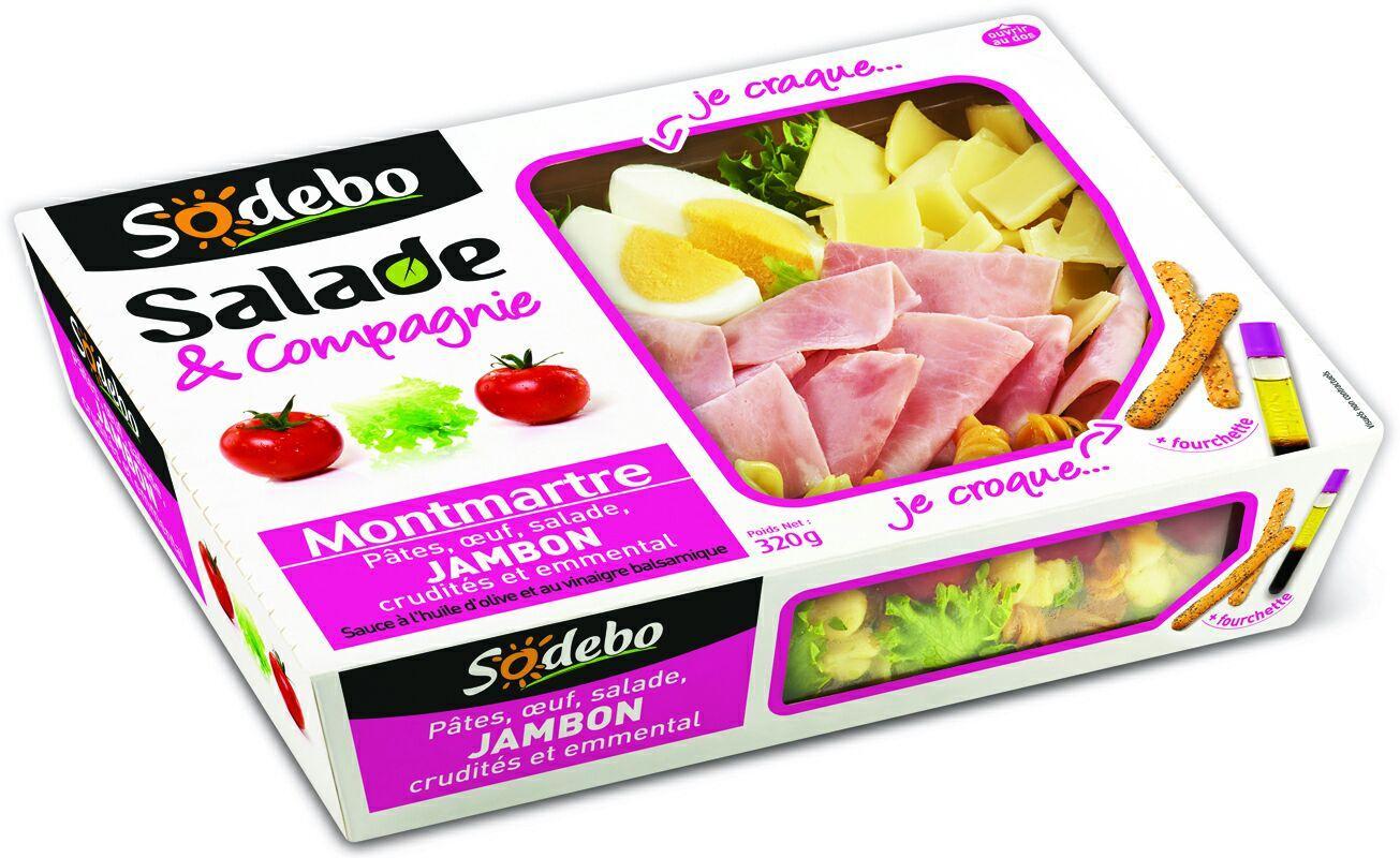 Lot de 3 Salades Sodebo (via Shopmium et BDR)