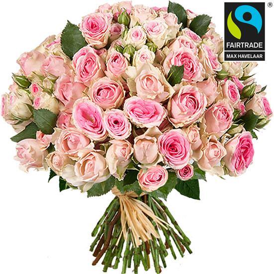 Bouquet de 100 boutons de roses Mimi Eden