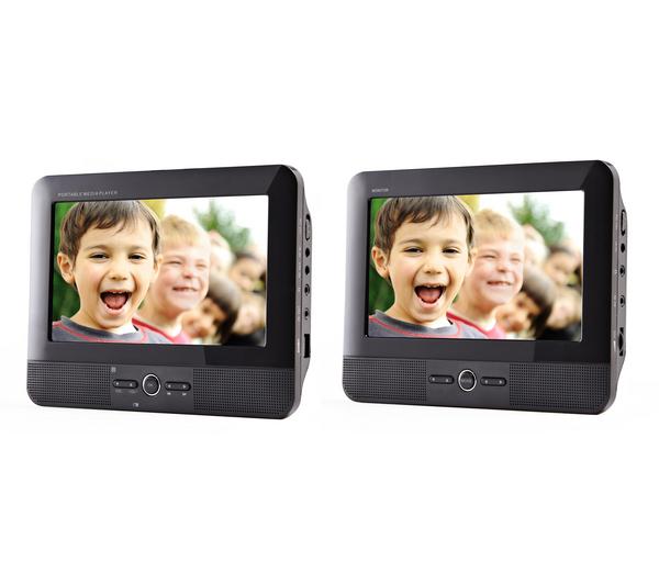 Lecteurs DVD Portable (2 écrans) Vatech PMP700T compatible Divx