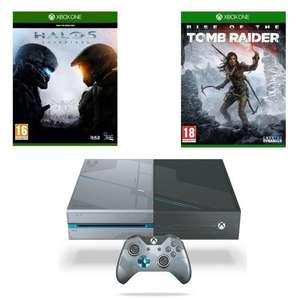 Console Microsoft Xbox One 1To Edition Collector + Halo 5 : Guardians + Rise Of The Tomb Raider