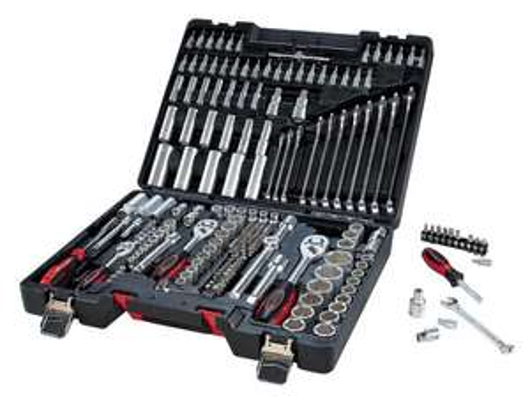 Malette à outils et douilles Powerfix - 216 pièces
