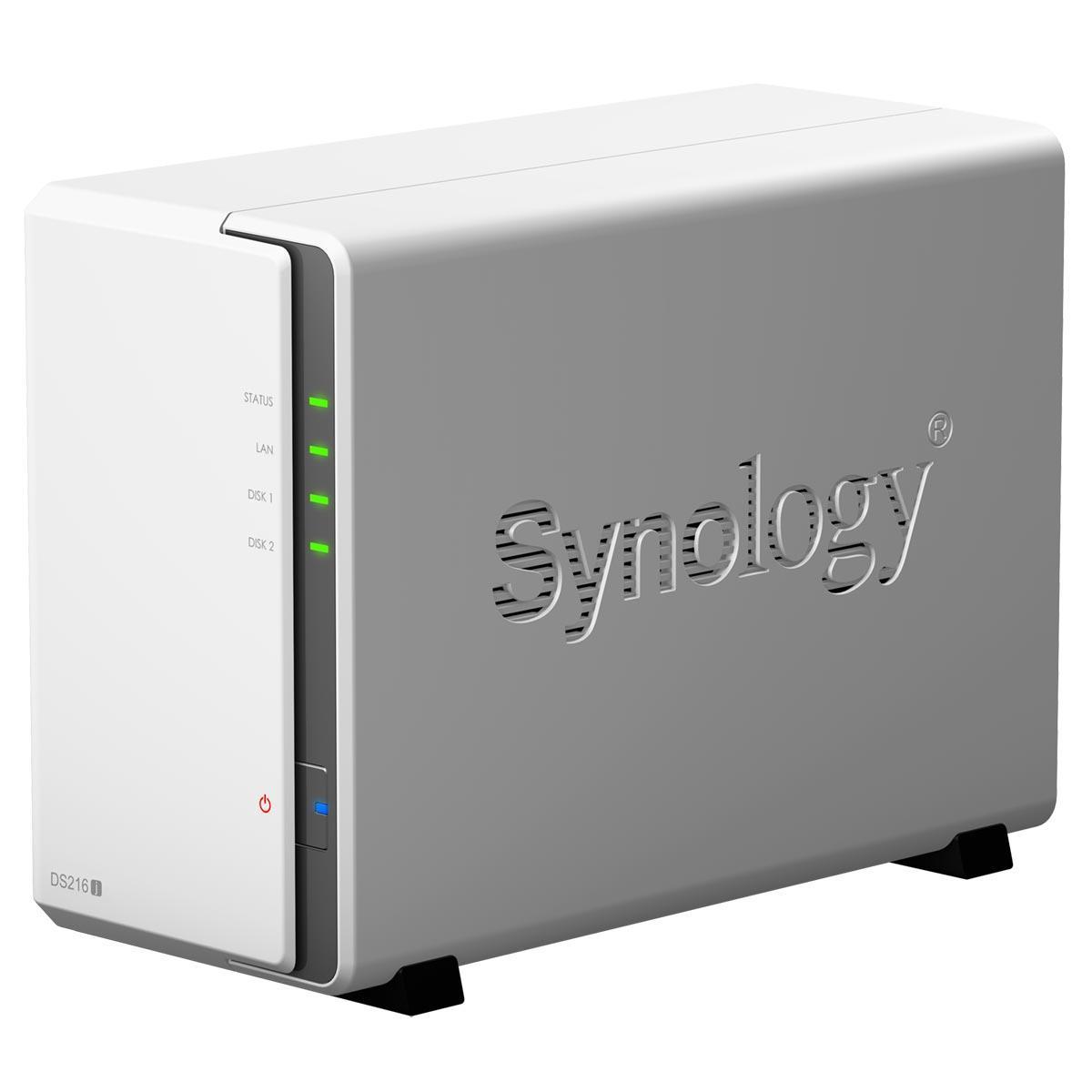 Serveur de stockage NAS Synology DiskStation DS216j - 2 baies