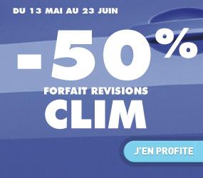 50% de réduction sur le forfait Révision Climatisation auto