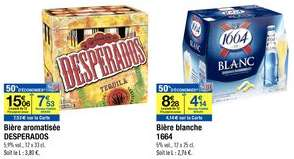 -50% à -70% sur Pack 12 Bières Desperados & -50% sur Pack 12 bières Blanche 1664
