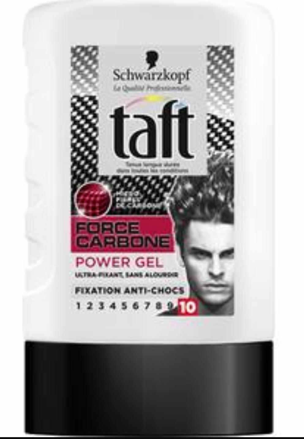 Gel cheveux Taft Force Carbone 300ml (via BDR de 1€)