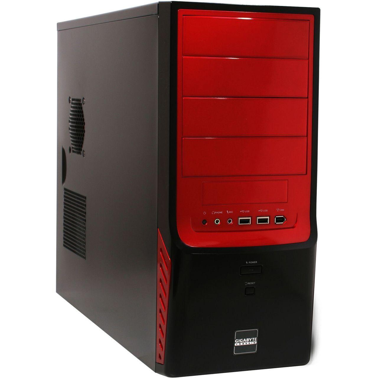 Boîtier PC Moyen Tour Gigabyte GZ-X4 Noir - Ventilateurs 12cm et 2 USB 2.0 (sans Alimentation)