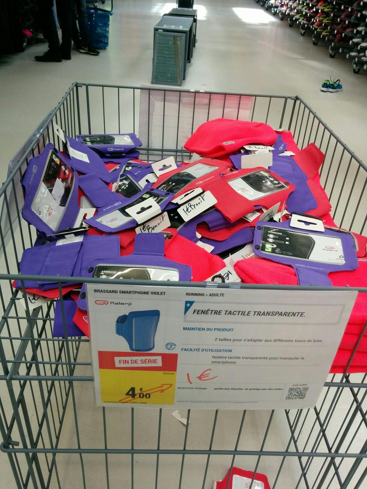 Brassard pour smartphone Kalenji - rose ou violet