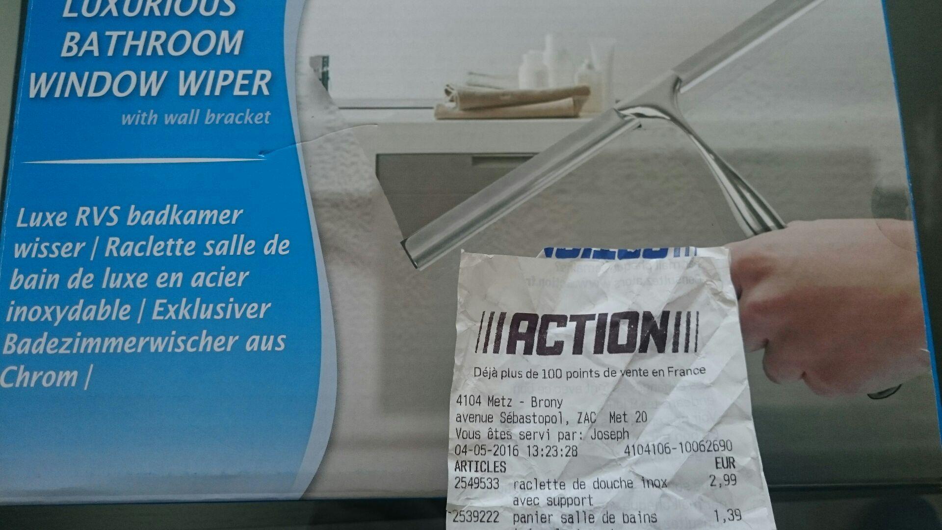 Raclette de salle de bains (en acier)