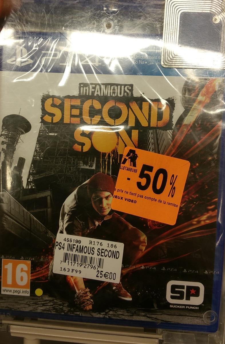 Jusqu'à -50% sur sélection de jeux-vidéos - Ex: Infamous Second Son sur PS4
