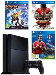 Console Sony PS4 1To (Châssis C) + Street Fighter V + PES Euro 2016 + Ratchet & Clank