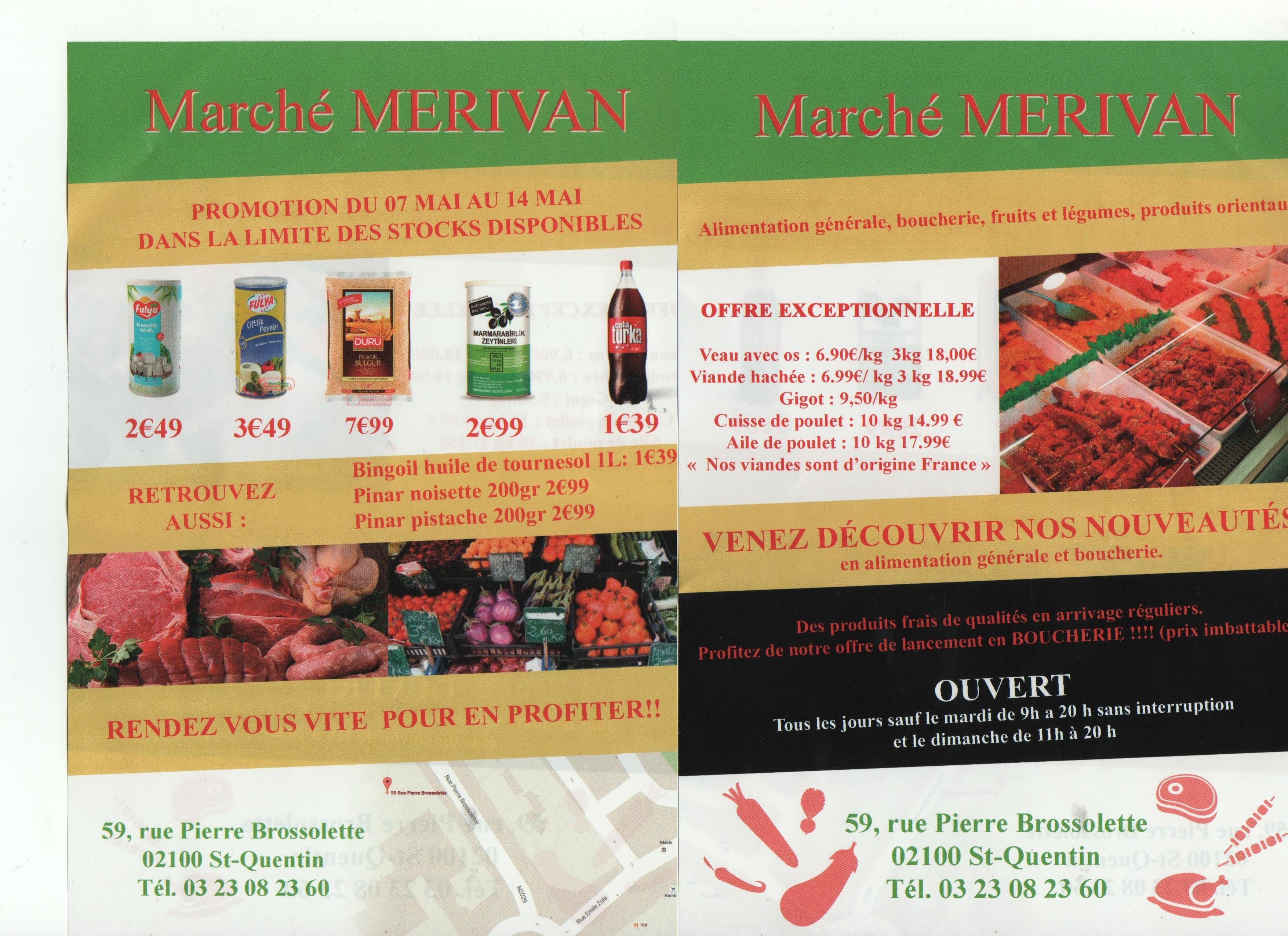 Viande en promotion pour l'ouverture du magasin - Ex: Veau avec os