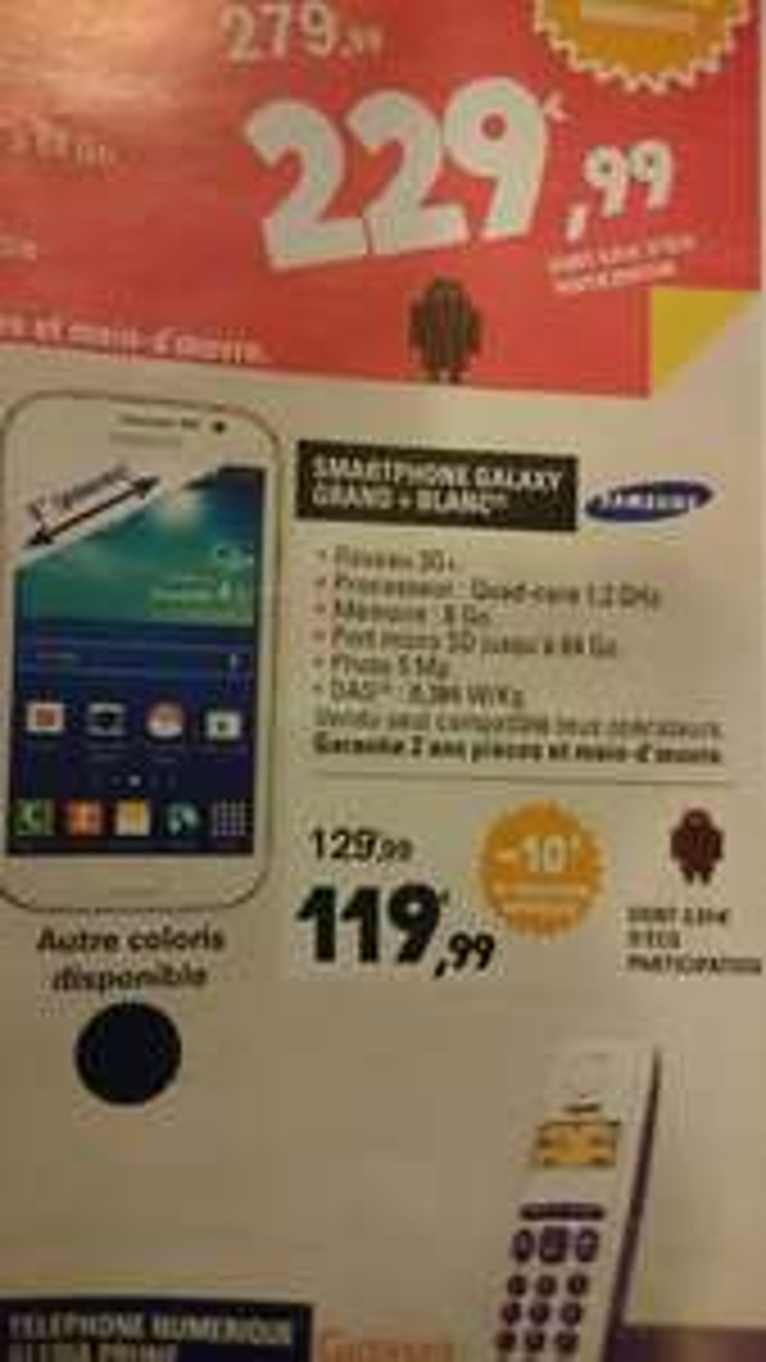 "Smartphone 5"" Samsung Galaxy Grand +"