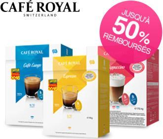 6 boites de capsules Café Royal pour système Dolce Gusto (via Shopmium)