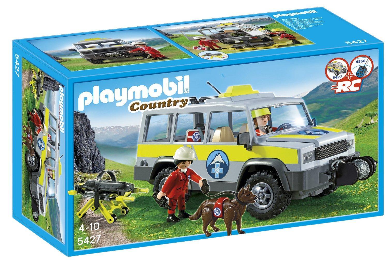 Véhicule avec secouristes de montagne Playmobil 5427