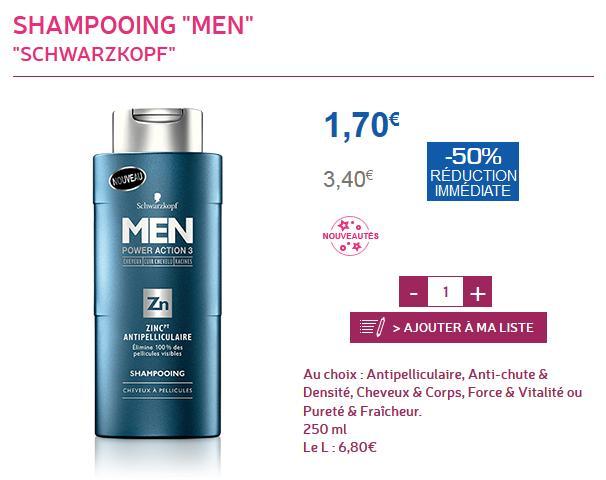 Shampooing Men de Schwarzkopf Power Action 3 (via BDR)