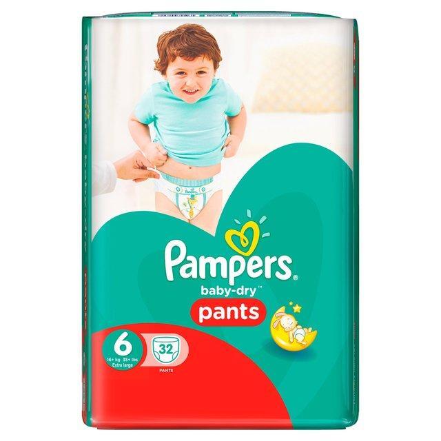 Lot de 32 Couches Pants Pampers Baby-Dry (via C-Wallet et via 10.65€ sur la carte)