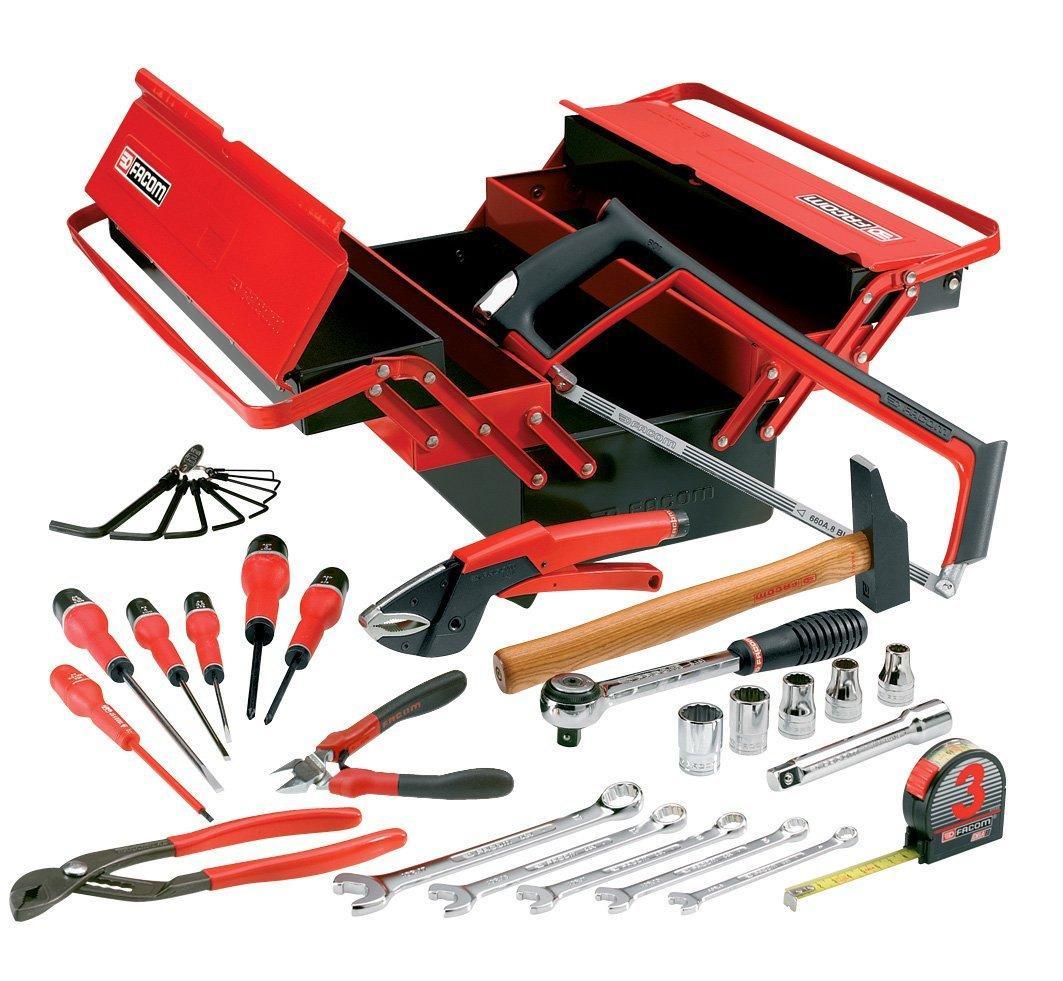 Boîtes à outils en métal Facom BT.11CM2PG + 32 Outils
