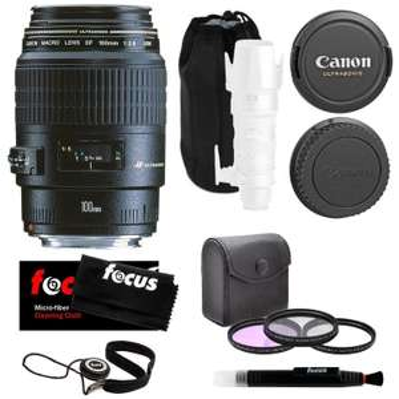 Objectif 100mm Canon 4657A011AA - EF f/2,8, Macro USM
