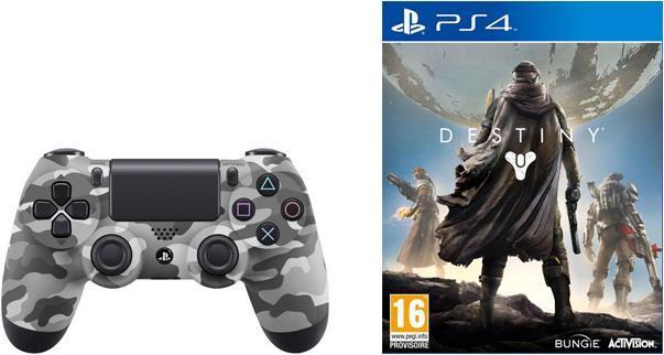 Manette Camouflage Dualshock Playstation 4 + Jeu PS4 Destiny