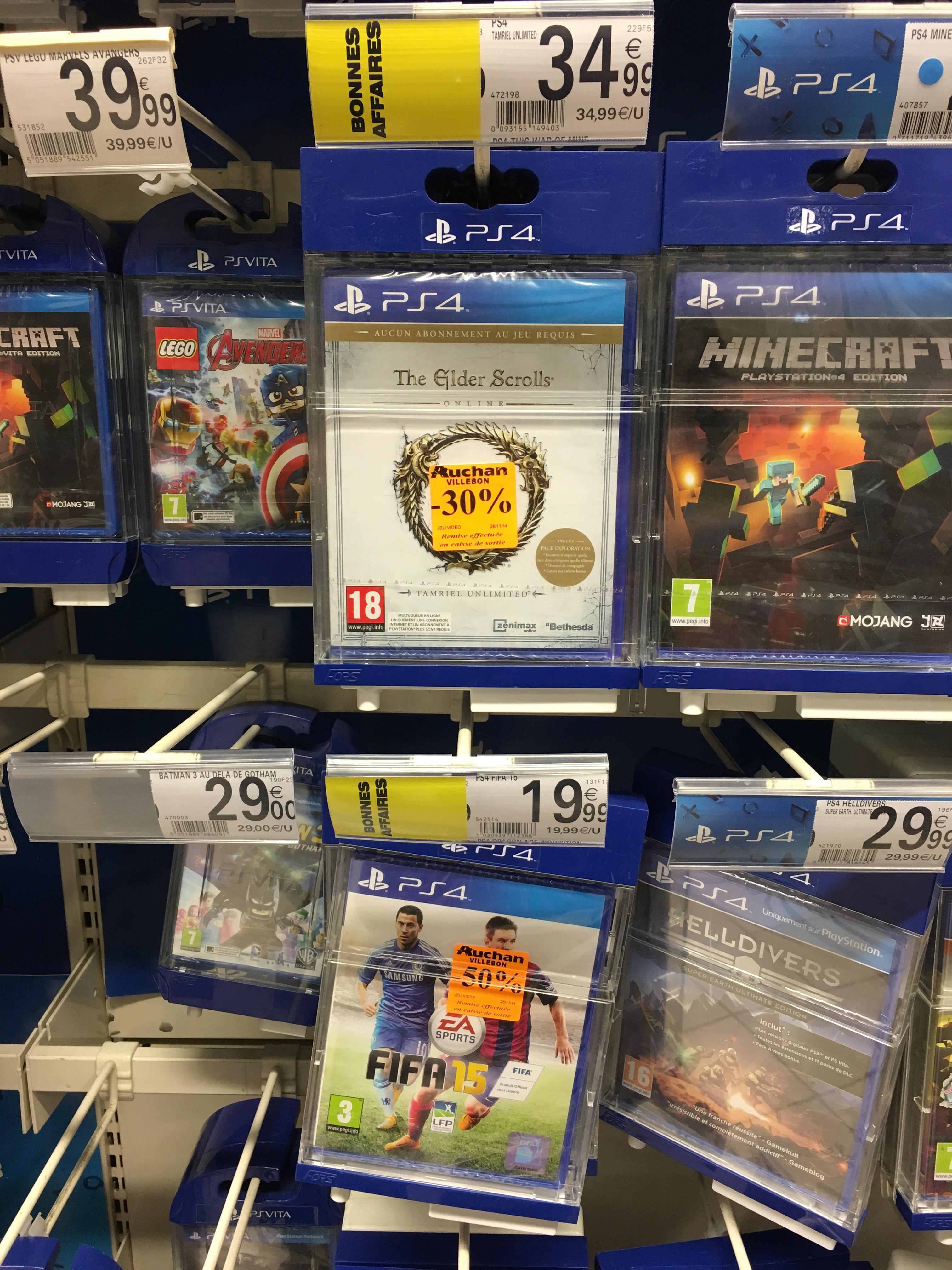 Sélection de jeux en promo - Ex : FIFA 15 sur PS4